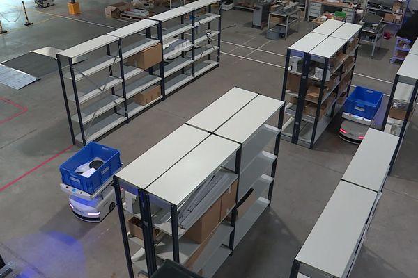Dans sa fonction de base, Sherpa peut transporter des charges jusqu'à 100 kg et ainsi soulager les salariés qui travaillent par exemple dans des entrepôts.