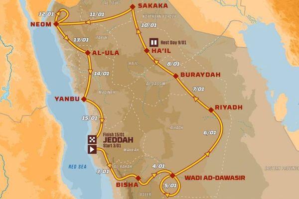 Le parcours du Dakar 2021