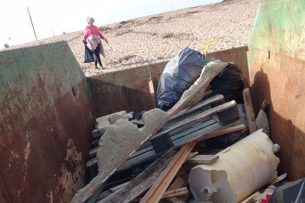 La tempête Fabien a emporté avec elle, de nombreux déchets.