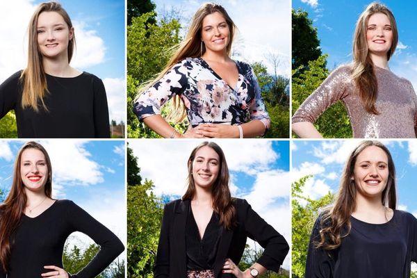 Qui sera élue Miss Volcans d'Auvergne 2019 ? De gauche à droite, colonne du haut : Manon Lama, 18 ans, Brioude - Amadine Billoux, 23 ans, Aurillac - Nadège Javelot, 20 ans, Sainte-Florine. Colonne du bas, de gauche à droite : Lucie Lecas, 21 ans, le Puy-en-Velay - Julie Moriat, 18 ans, Brioude - Tatiana Ducournau, 18 ans, Brioude.