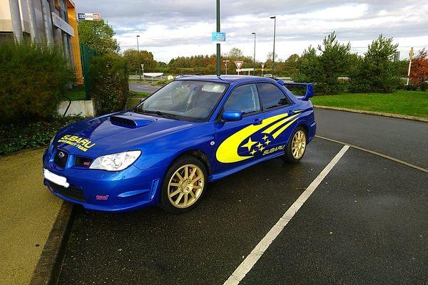 La Subaru saisie par les gendarmes après un excès de vitesse à 200 km/h.
