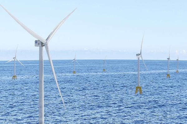 Les super éoliennes Haliades dont les pâles seront fabriquées à Cherbourg-en-Cotentin