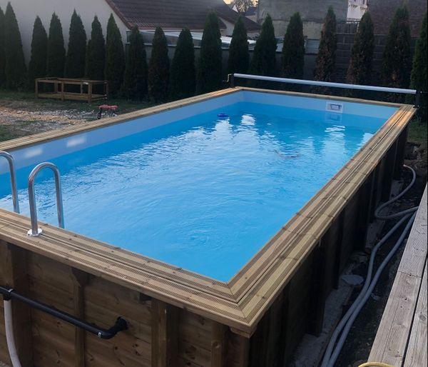 La piscine installée dans le jardin de Thomas depuis mi-juin