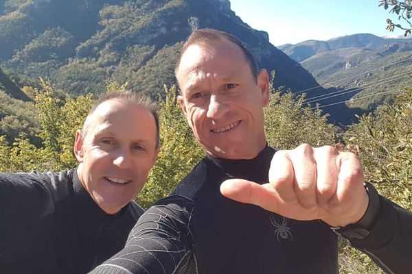 """Martial et David, co-fondateurs de """"Mission Trekkeurs""""."""