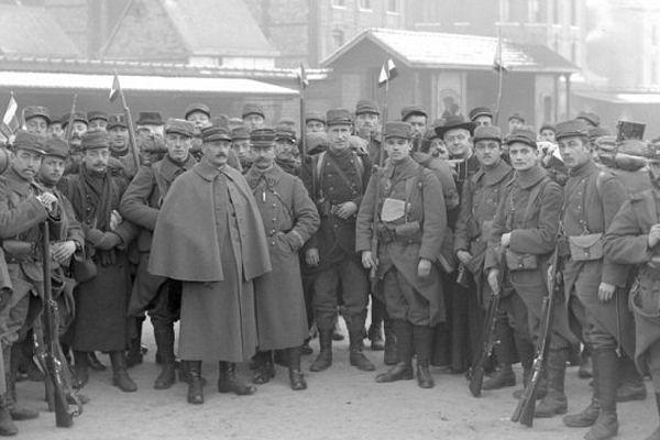 Départ de la classe 1914 pour le front, 22 novembre 1914.