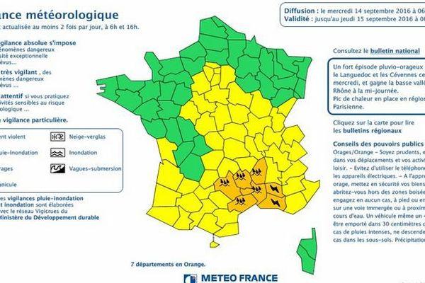 La vigilance orage inondation étendue au Vaucluse