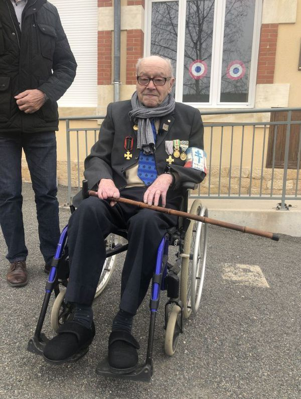 Pierre Bazot, 99 ans, ancien maquisard.