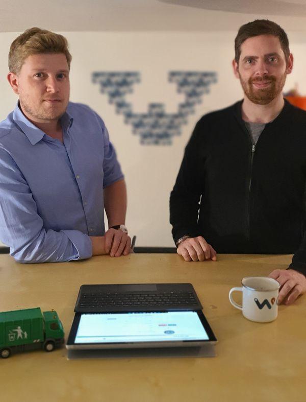 De gauche à droite :  Romain Treussard  et Maxence Courbe, co-fondateurs de Waster