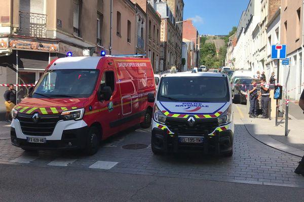Les secours sur place après la chute d'un enfant de 2 ans au Havre