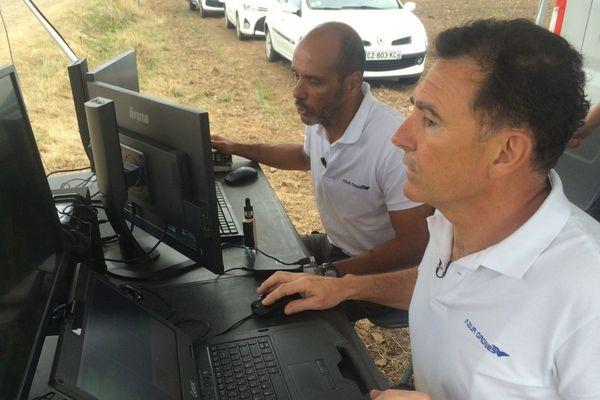 Pilotage du drone et enregistrement des images de surveillance