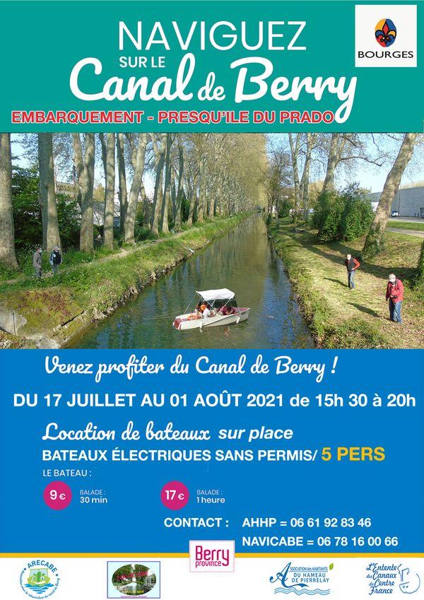 Affiche : Naviguez sur le Canal du Berry !