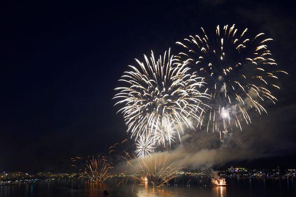 Le feu d'artifice à Cannes le 14 juillet dernier.