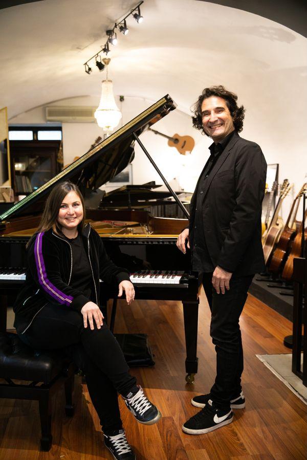 Laure Sibella et Xavier Torre, directrice artistique et président de l'association Opus Corsica.