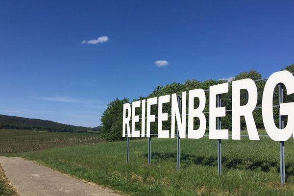 Le lieu-dit Reifenberg sur la route des vins dans le nord du Bas-Rhin