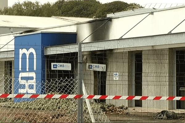 La MSA incendiée à Saint-Martin-des-Champs (29)