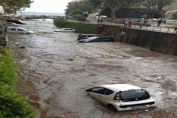 Collioure (Pyrénées-Orientales) - les fortes pluies ont occasionné des inondations - 8 septembre 2014.