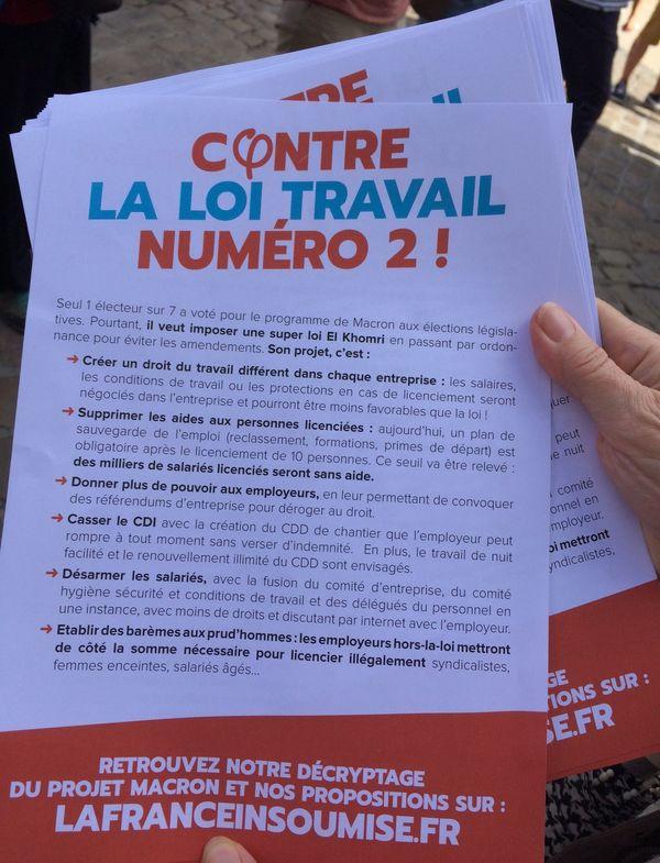 La France Insoumise est vent debout contre la version 2 de la Loi Travail