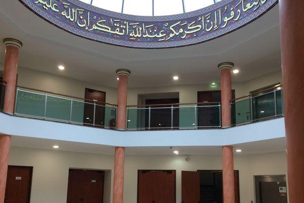 La mosquée de Reims, vue de l'intérieur.