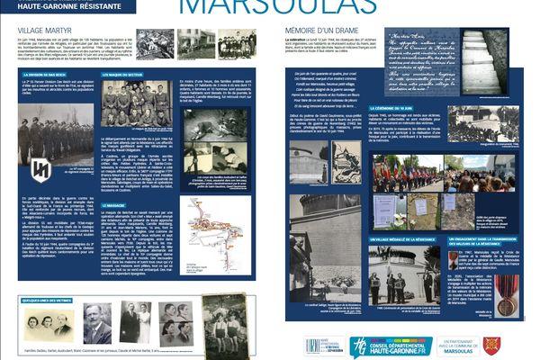 Le panneau mémoriel installé à Marsoulas