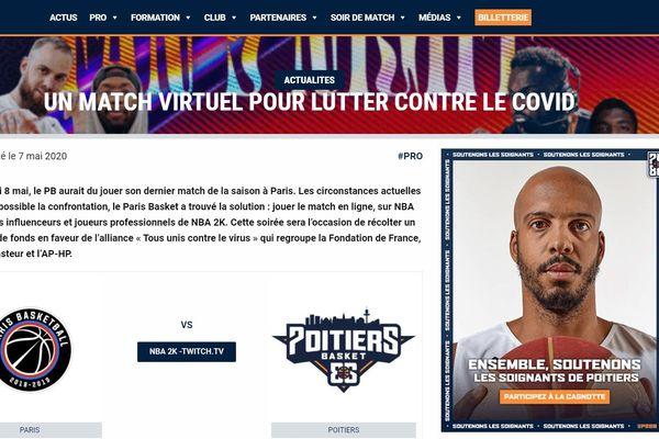 Le match a été annoncé sur le site internet des deux équipes.