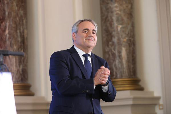 Xavier Bertrand, au Palais de Fervaques, le soir de sa réélection.