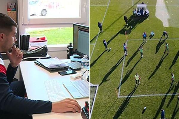 Le drone propose à l'analyste vidéo une vue d'ensemble du jeu.