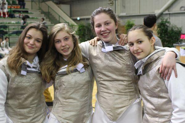 De gauche à droite : Cyrielle Dard, Emma Mika, Marie Boete et Guillemette Calmus.