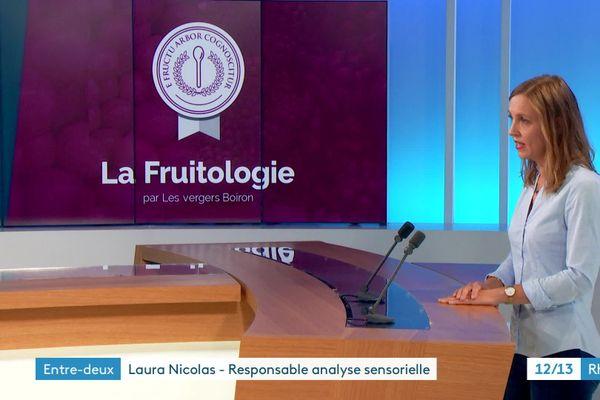 Laura Nicolas est responsable de l'analyse sensorielle chez les vergers Boiron à Valence (26)