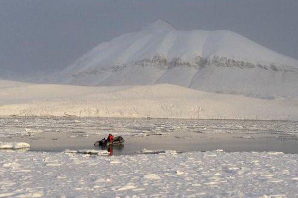 Les collégiens ont pu constater de près la fonte des glaces, accélérée par le réchauffement climatique