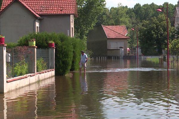 Inondations à Berry-au-Bac, le 21 juillet 2021.