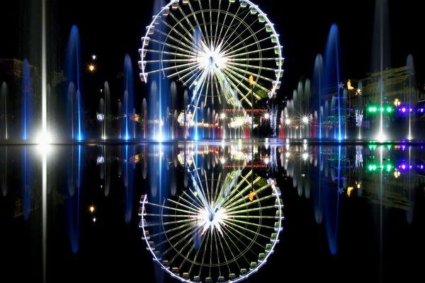 La grande roue sur la promenade du Paillon