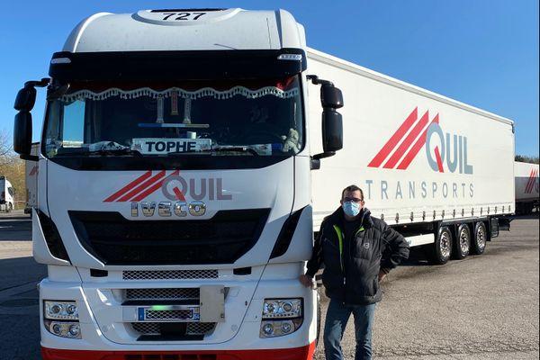 Christophe Coscelli, conducteur de poids-lourds pour la société Transports QUIL, Velaine-en-Haye (Meurthe-et-Moselle)
