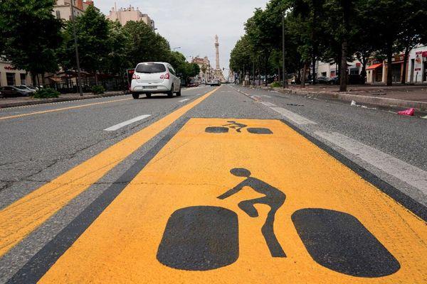 La piste cyclable du Prado est la première des 9km de pistes prévus par la Métropole