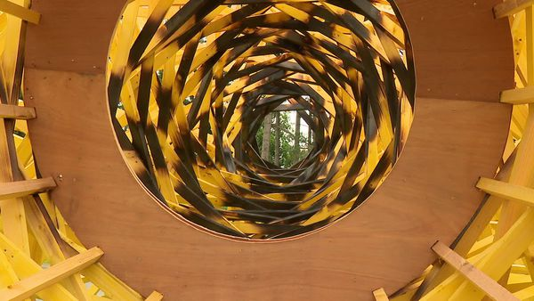 """Percée"" : le centre de la sculpture sera calciné et donnera l'impression d'un vortex."