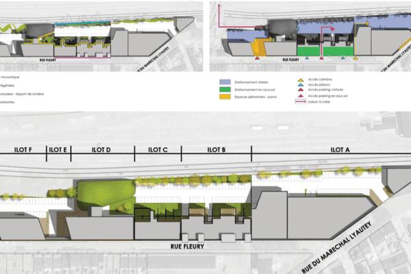 Projet d'aménagement urbain des Docks de Blois, à Vichy
