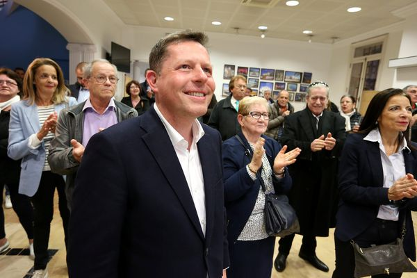 Frédéric Masquelier, président (LR) de la communauté d'agglomération, lors du premier tour des municipales en mars dernier.