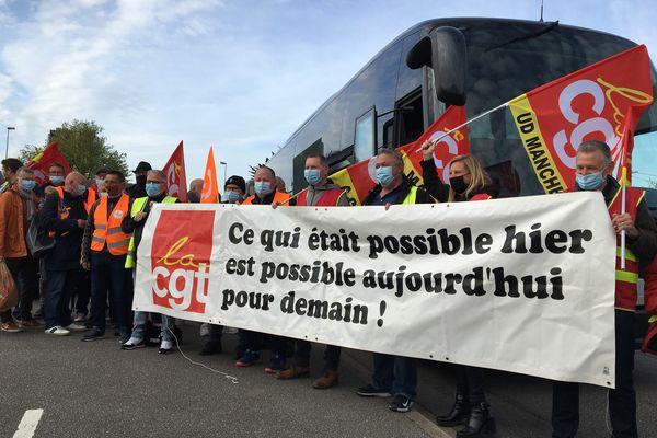 Départ pour Rouen ce mardi matin d'une délégation de salariés d'ACPP de Digulleville