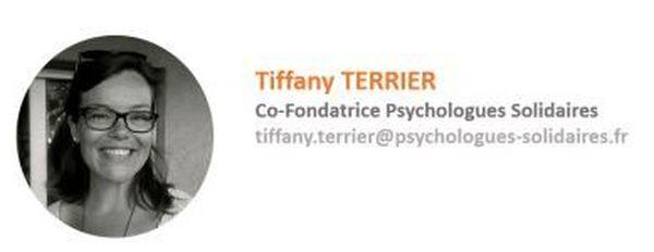 """Tiffany Terrier, co-fondatrice de la plateforme """"psychologues solidaires"""""""