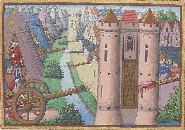 Illustration du siège de Rouen entre juillet 1418 et janvier 1419.