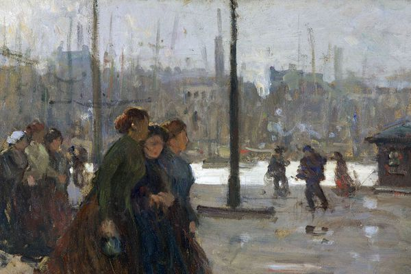 Femmes de marins sur les quais de Boulogne-sur-Mer
