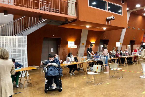 Un bureau de vote en Touraine. Photo d'illustration
