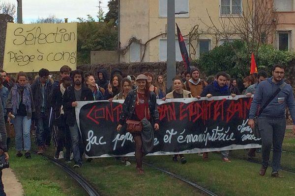 Montpellier - manifestation contre la réforme de l'accès à l'université, ParcourSup et le projet du nouveau baccalauréat - 1er février 2018.