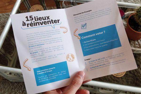 Quinze lieux sont à réinventer à Nantes. Les votes se clôtureront le 23 juin.
