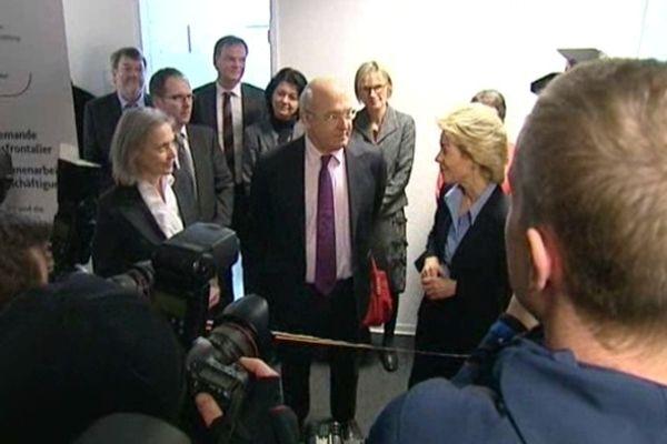 Inauguration du premier Pôle emploi franco-allemand.