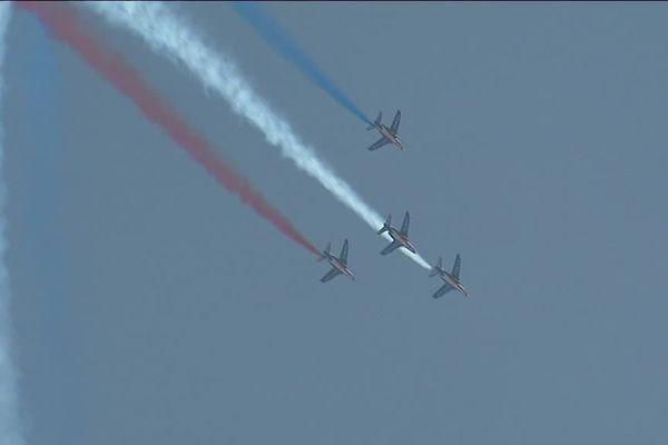 La patrouille de France est venue célébrer les 50 ans de l'aérodrome de La Veze samedi 29 septembre.