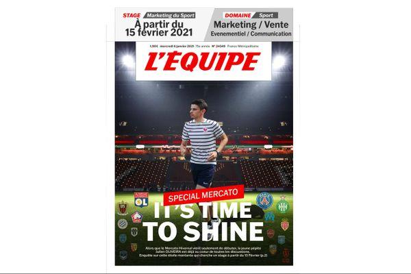 Étudiant en marketing du sport, Julien Oliveira a déguisé son CV en une du magazine L'Équipe.