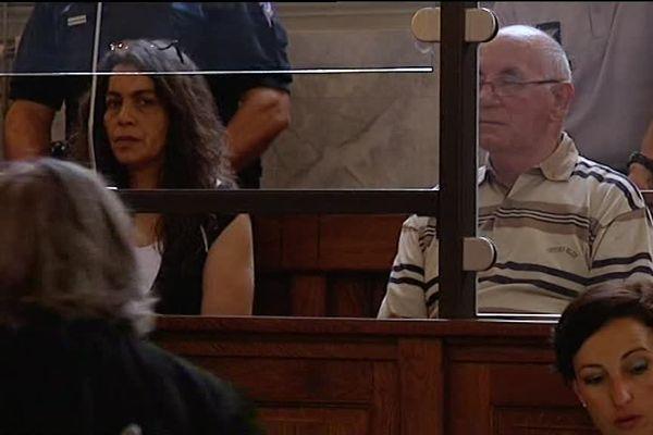 Fatima Ennajah et Claude Ducos dans le box des accusés