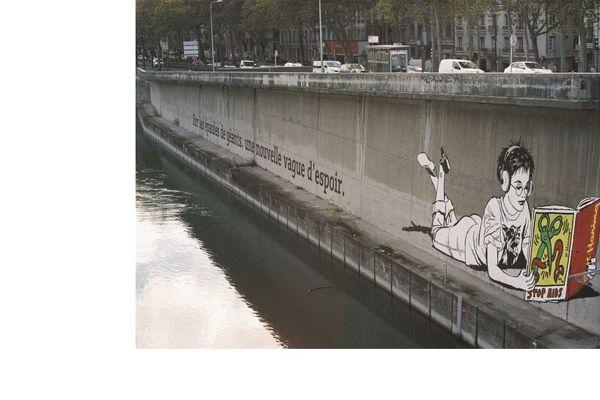 Fresque FAILE bord du Rhône