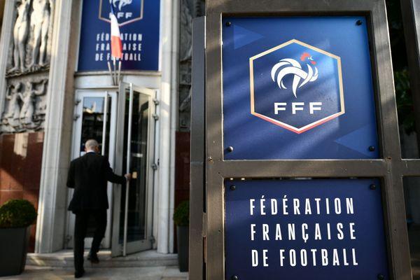 L'entrée du siège de la Fédération Française de Football, à Paris. Les élections pour désigner le nom du prochain président se dérouleront samedi 13 mars.