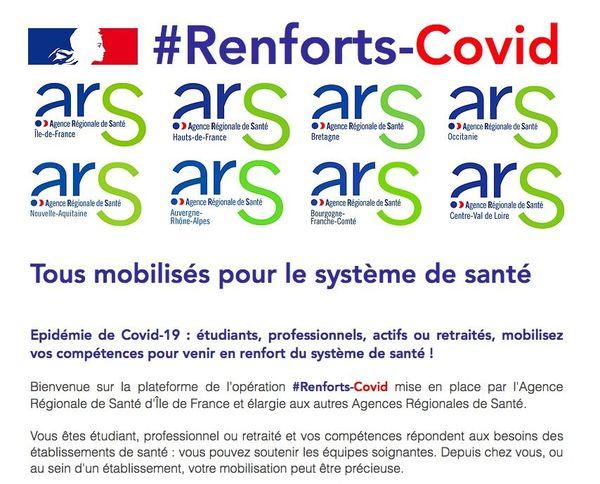 La page d'accueil de la plateforme pour les volontaires en Nouvelle Aquitaine